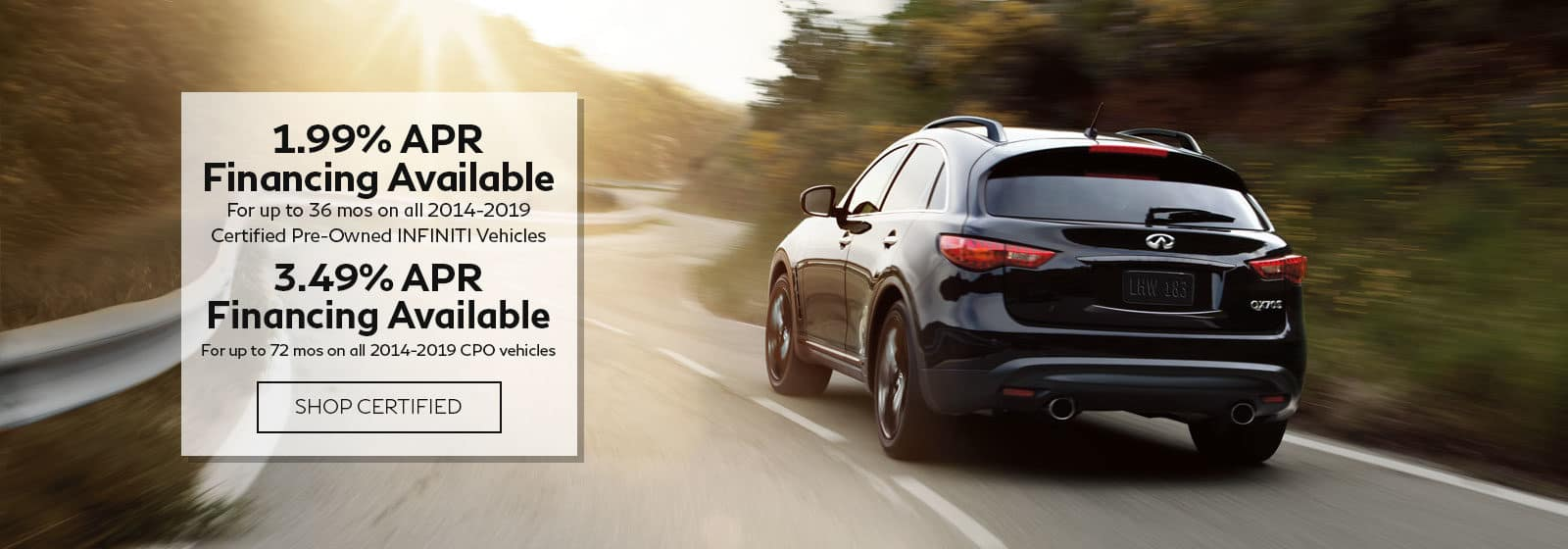 INFINITI Certified Preowned APR offer NJ