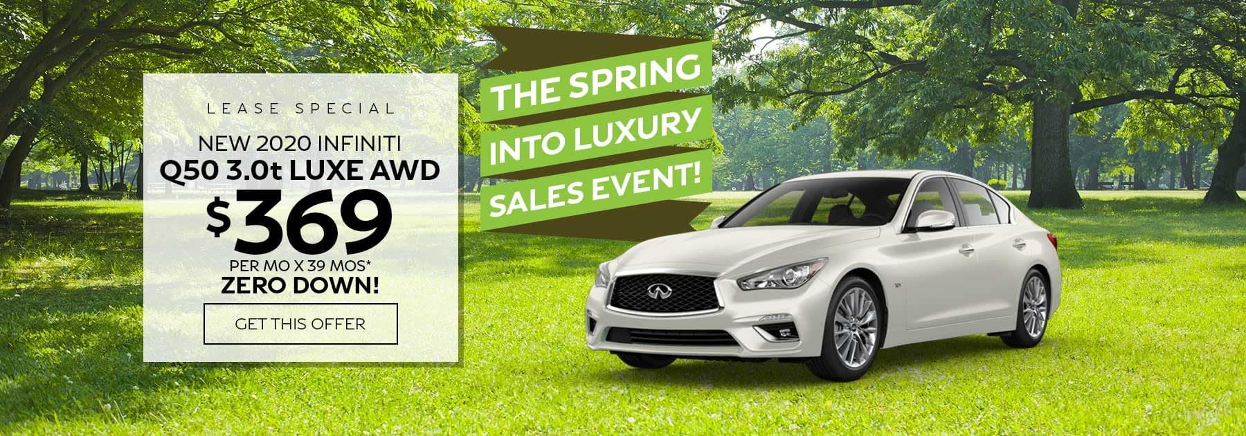 Ramsey INFINITI Q50 lease special