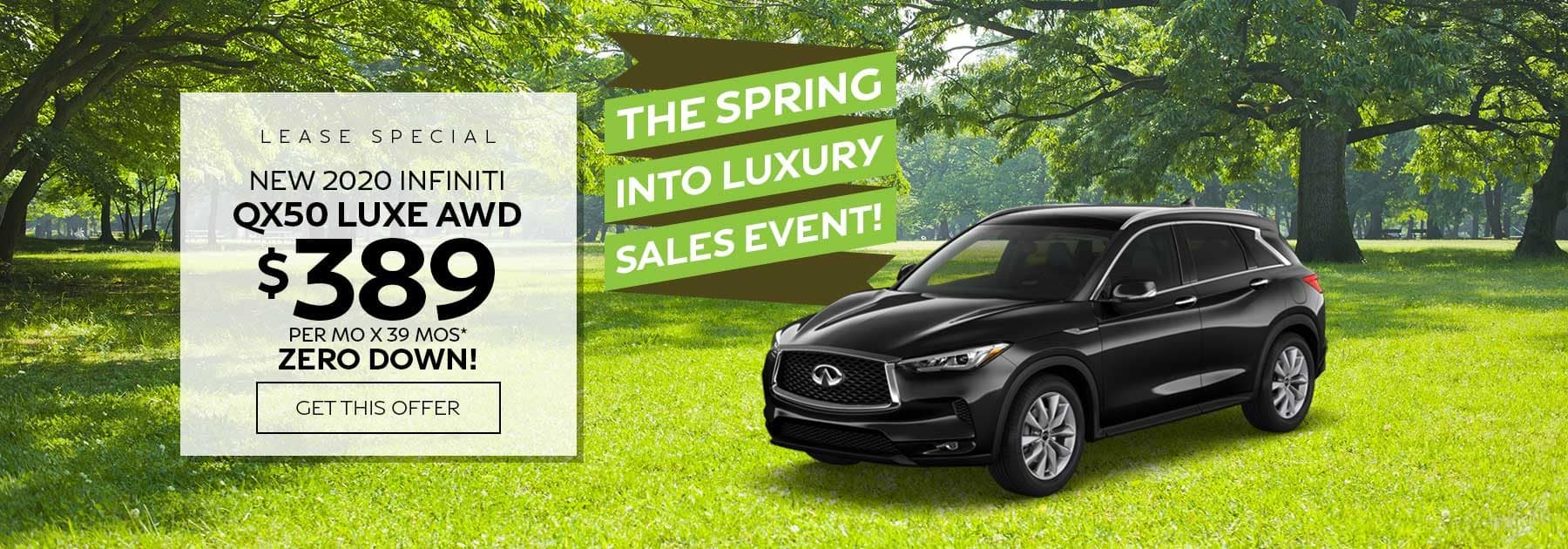 Ramsey INFINITI QX50 lease special
