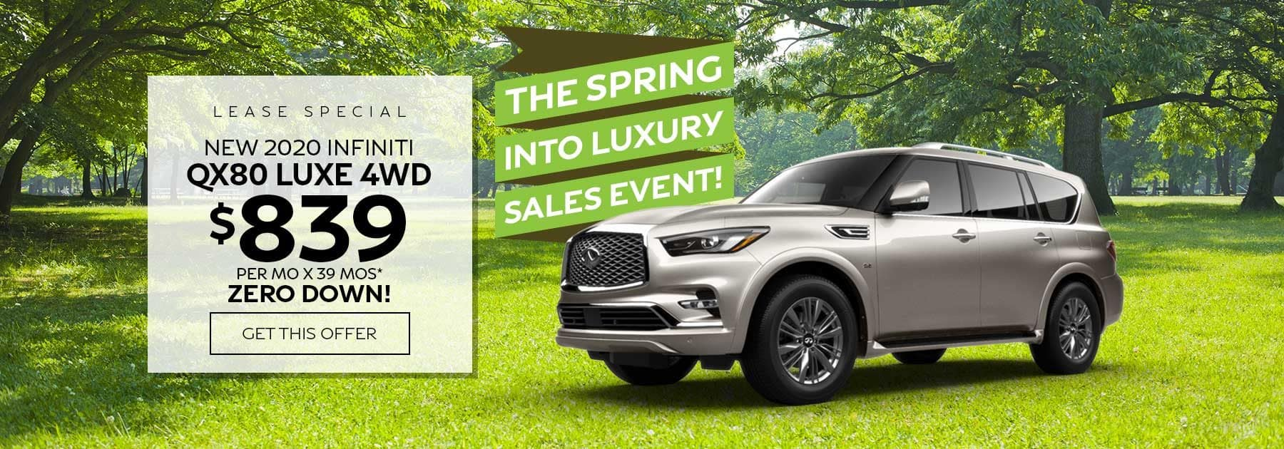 Ramsey INFINITI QX80 lease special