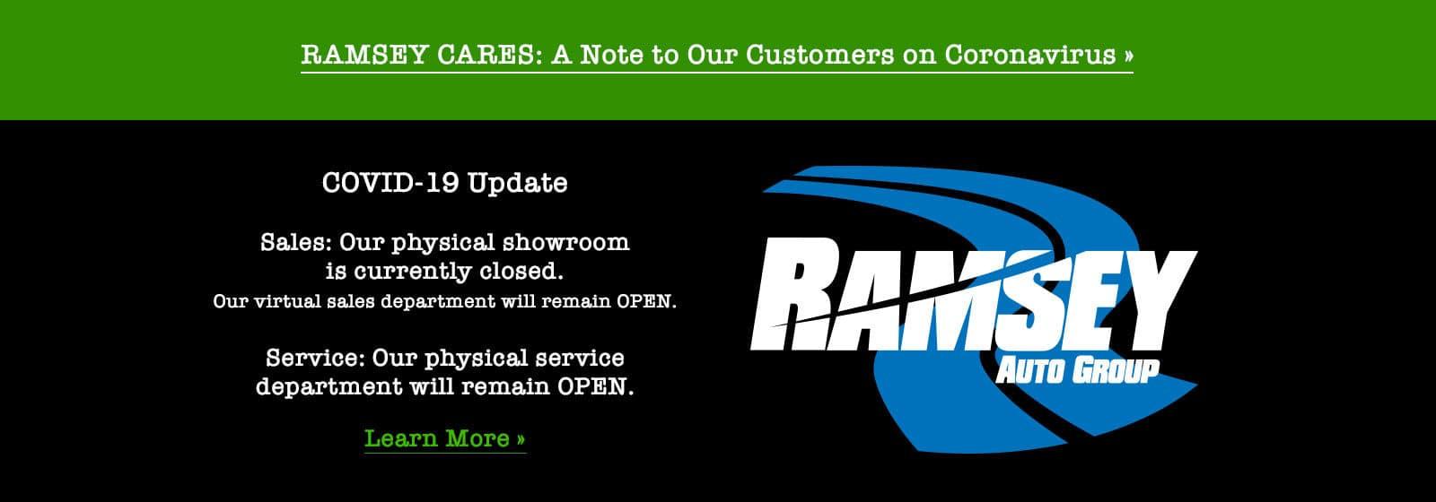 showroom closed, service dept open