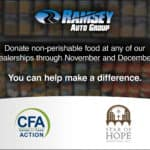 Ramsey Auto Group Food Drive