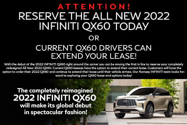 Reserve the all new 2022 INFINITI QX60
