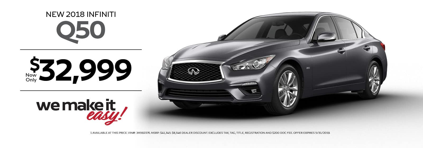 RAY BRANDT INFINITI Q50 SPECIAL