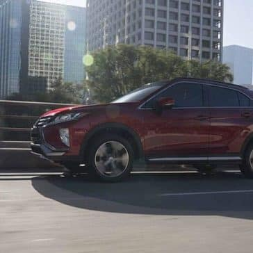 2019 Mitsubishi Eclipse Cross driving through city