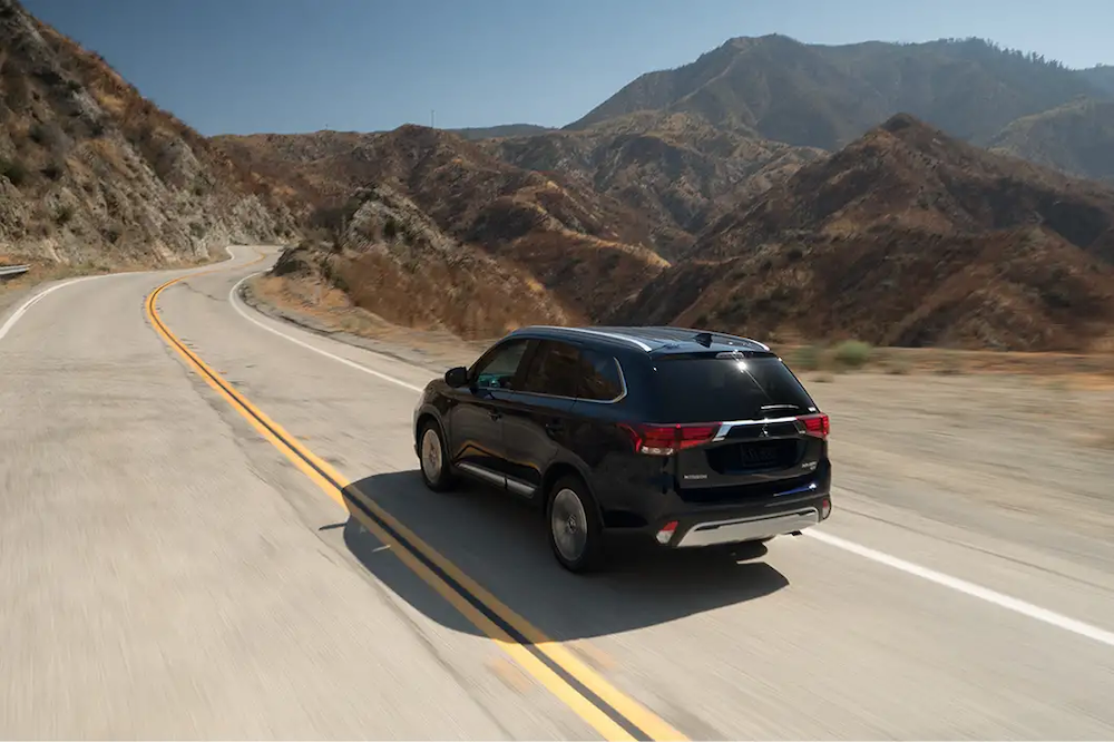 2019 Mitsubishi Outlander on an empty road