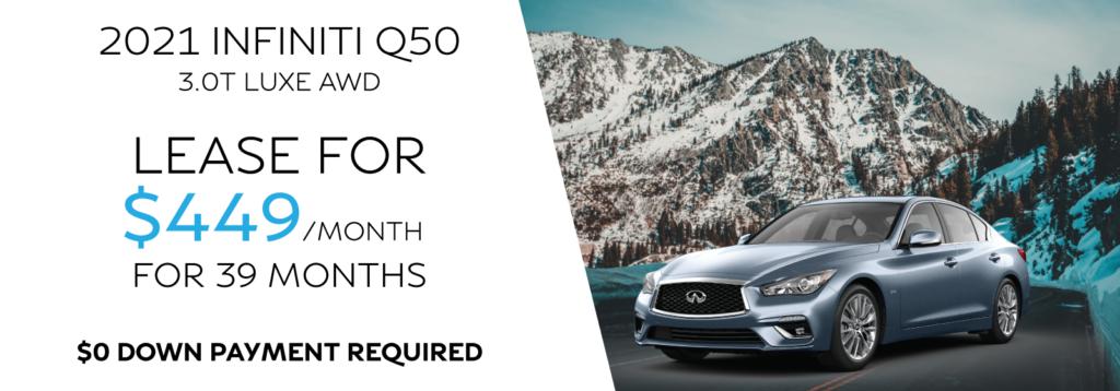 New 2021 INFINITI Q50 3.0t LUXE AWD