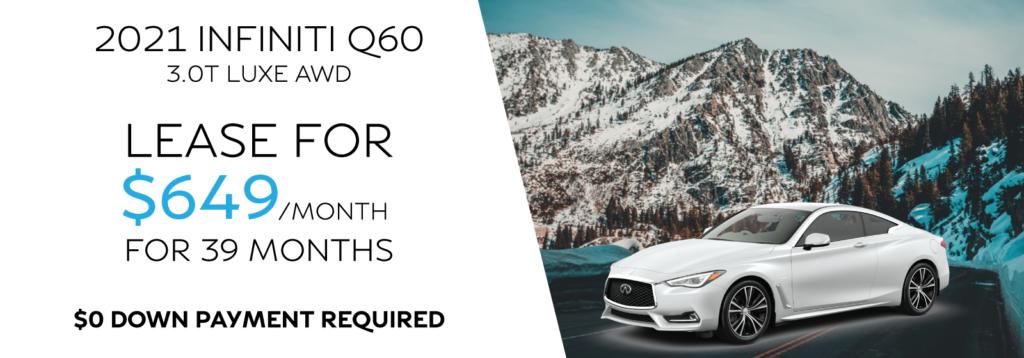 New 2021 INFINITI Q60 3.0t LUXE AWD
