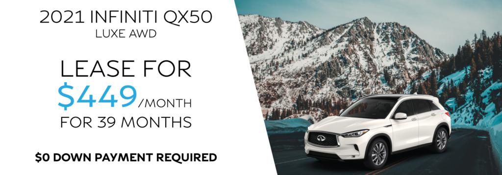 New 2020 INFINITI QX50 LUXE