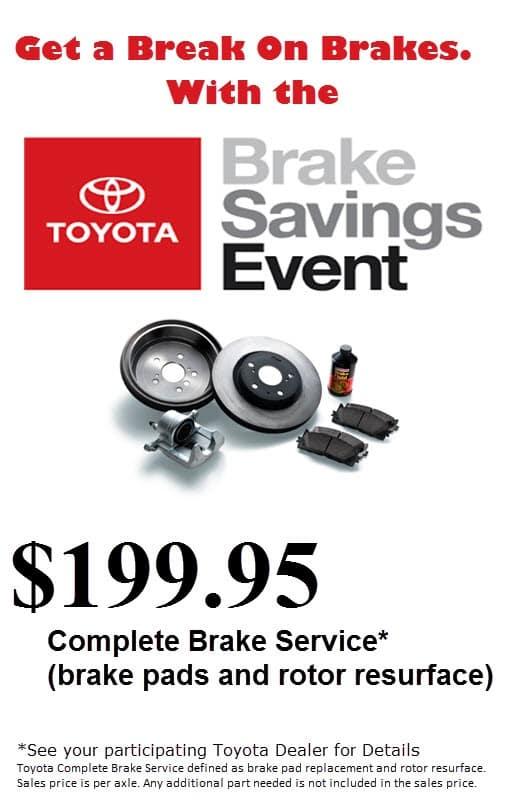 Brake Pads And Rotors Prices >> Genuine Toyota Brakes Ron Tonkin Toyota