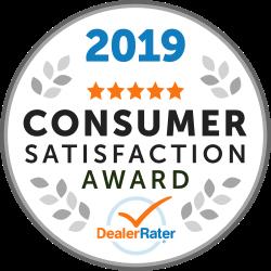 DealerRater 2019 Consumer Satisfaction Award