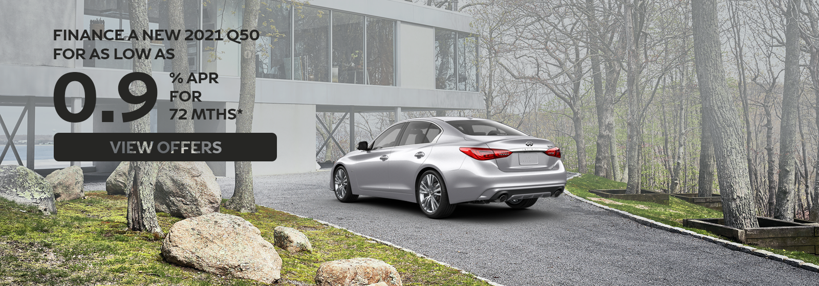 0.9% APR for up to 72 months on 2021 Q50