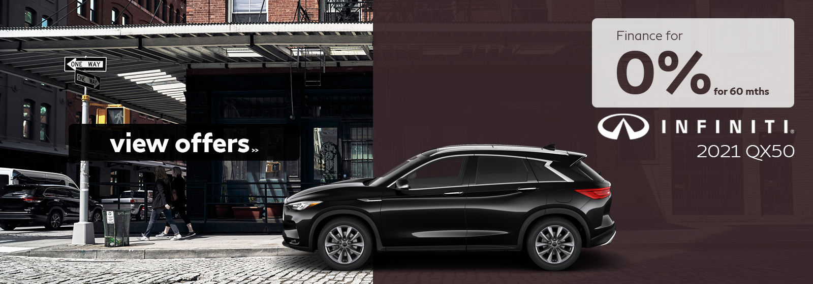 Finance a 2021 QX50 for as low as 0% for 60 months!