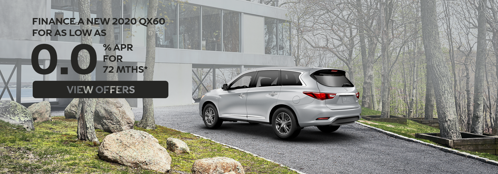 0% APR for up to 72 months on 2020 QX60