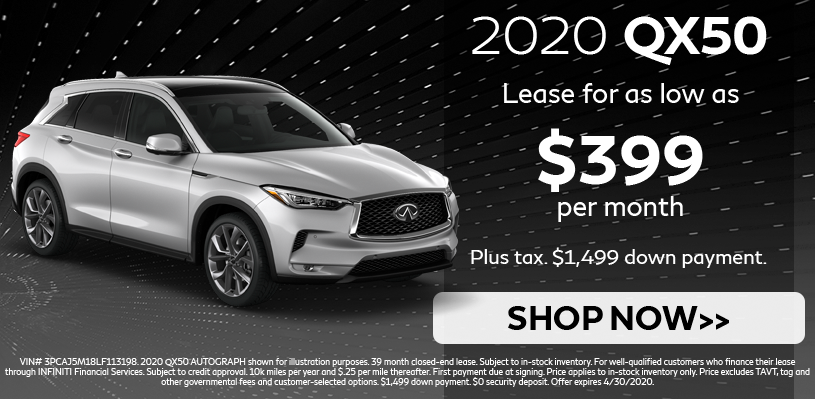 QX50 Lease Special