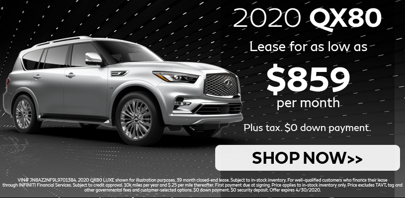 QX80 Lease Special