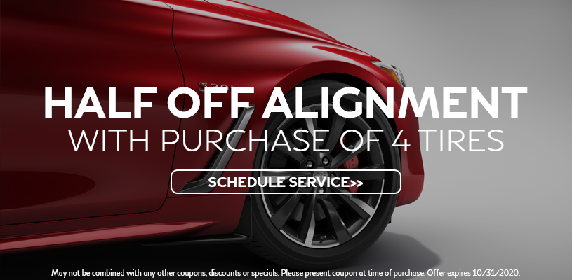 Half Off Alignment With Purchase of 4 Tires