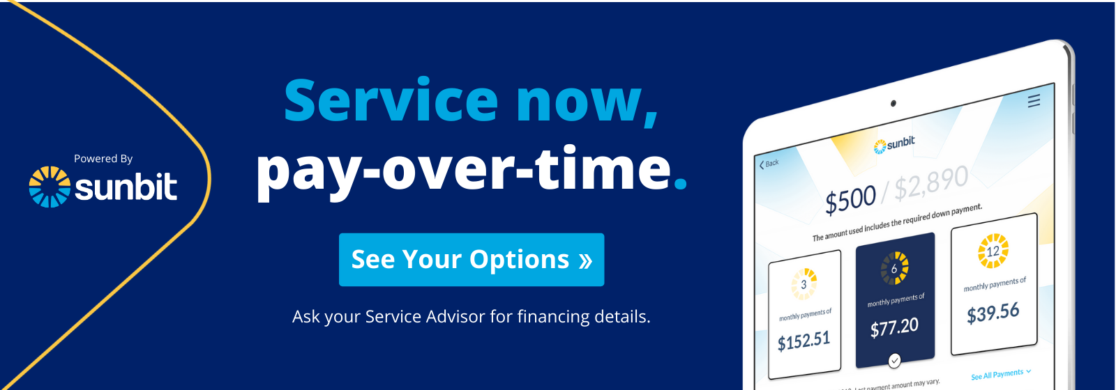 Service Now. Pay Over Time.