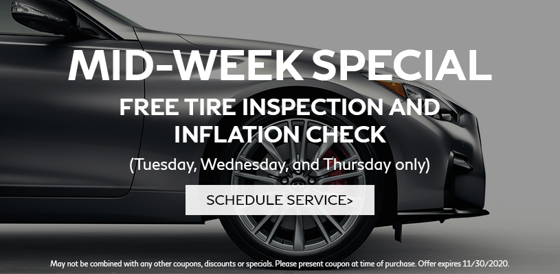 Mid-week tire inspection special