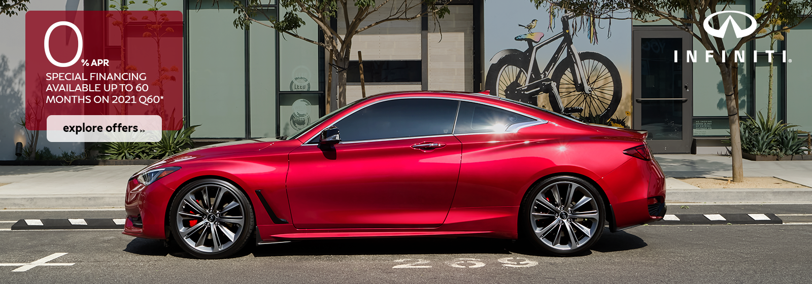 Finance a 2021 Q60 for as low as 0% for 60 months!