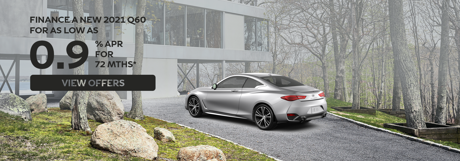 0.9% APR for up to 72 months on 2021 Q60