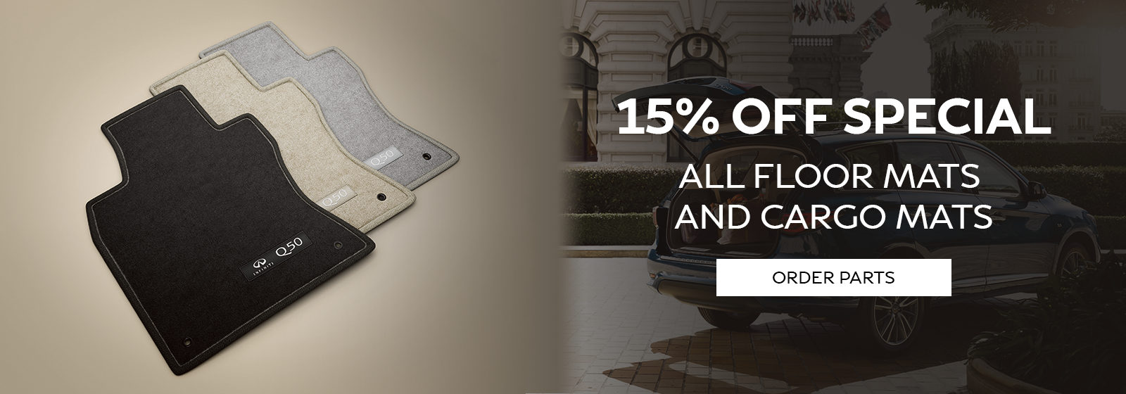 15% Off Special All Floor Mats & Cargo Mats