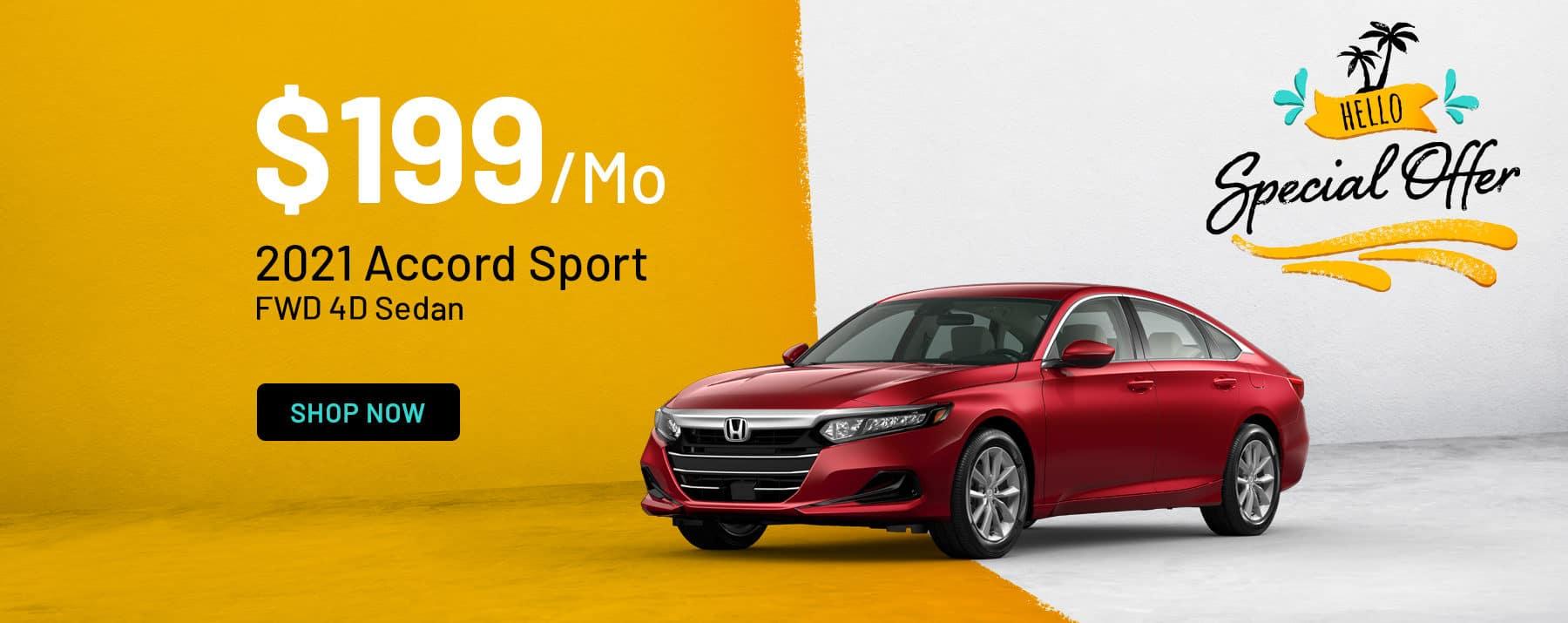 2021 Honda Accord Special Offer