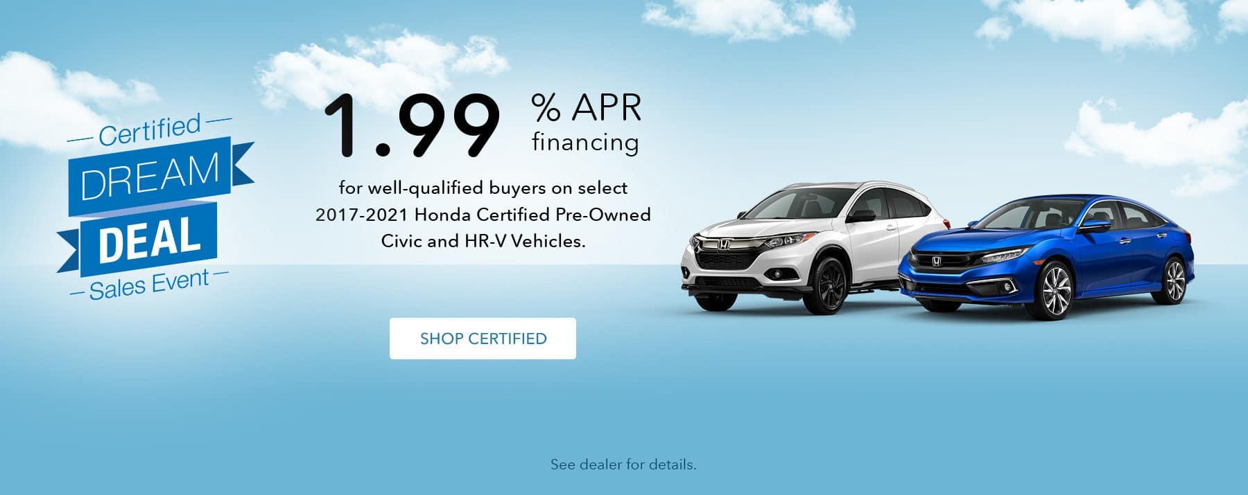 Honda CPO Special Offer