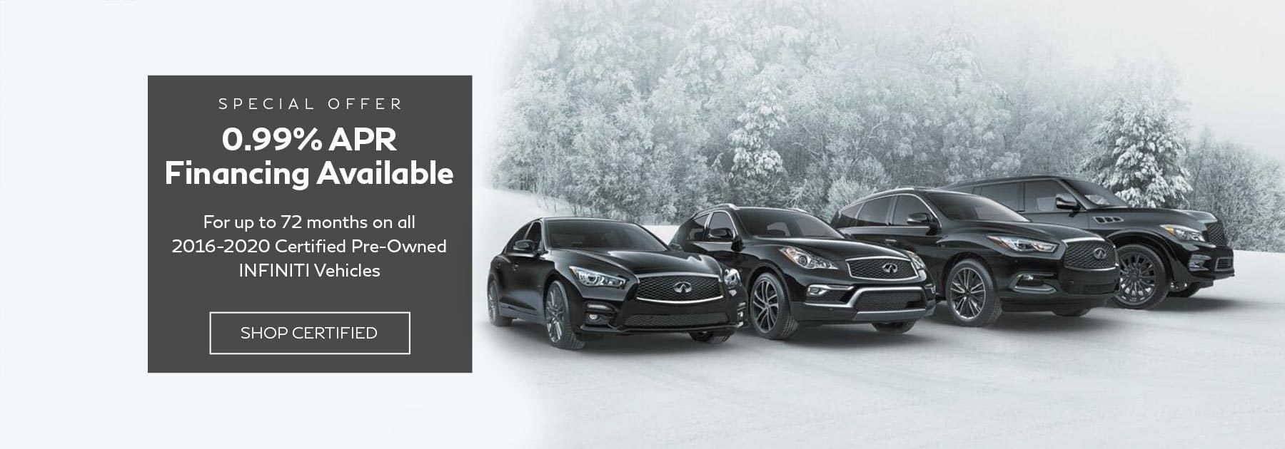 INFINITI certified preowned finance offer