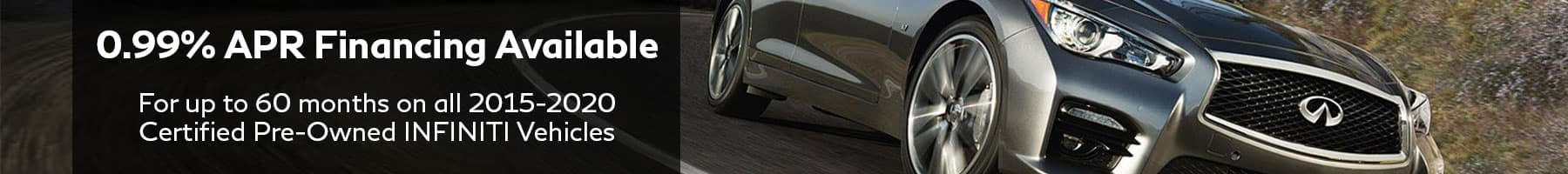 0.99% APR Financing on certified preowned vehicles