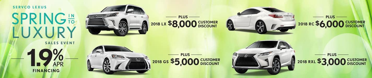 Servco Lexus Spring Into Luxury APR and Customer Discounts