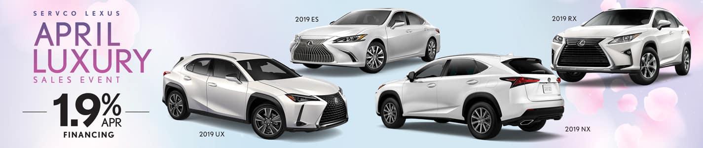 Servco Lexus April Luxury APR and Customer Discounts