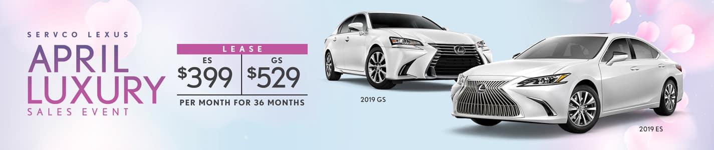 Servco Lexus April Luxury Sedan Lease Offers