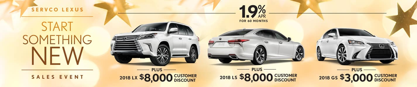 2019 Servco Lexus Start Something New Sales Event Customer Discount