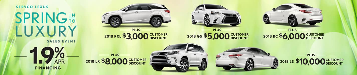 Servco Lexus Spring Into Luxury APR and Customer Discounts