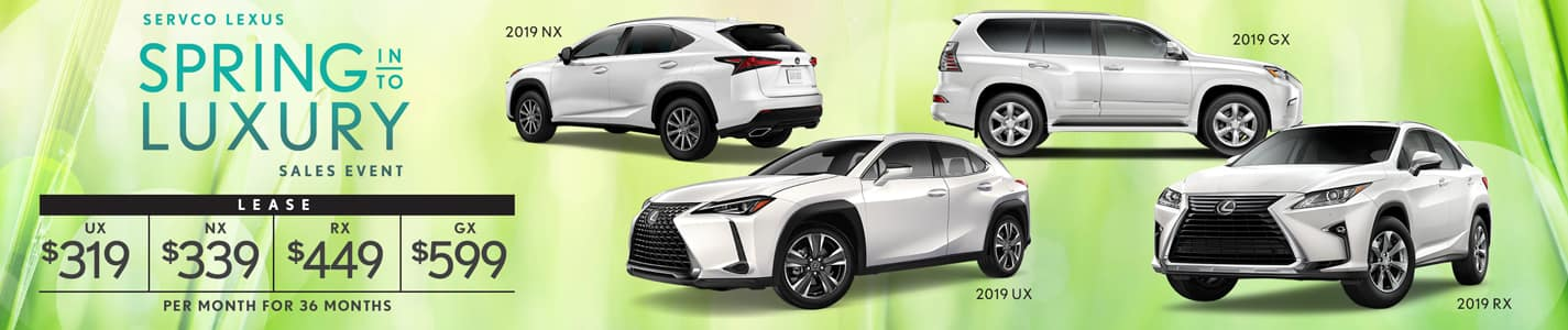 Servco Lexus Spring Into Luxury SUV Lease Offers