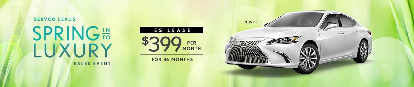 Servco Lexus Spring Into Luxury Sedan Lease Offers