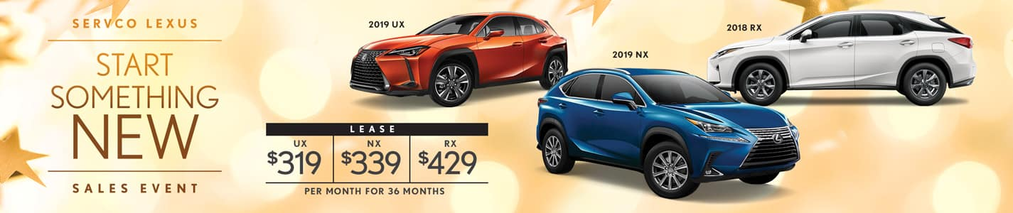 2019 Servco Lexus Start Something New Sales Event SUV Lease