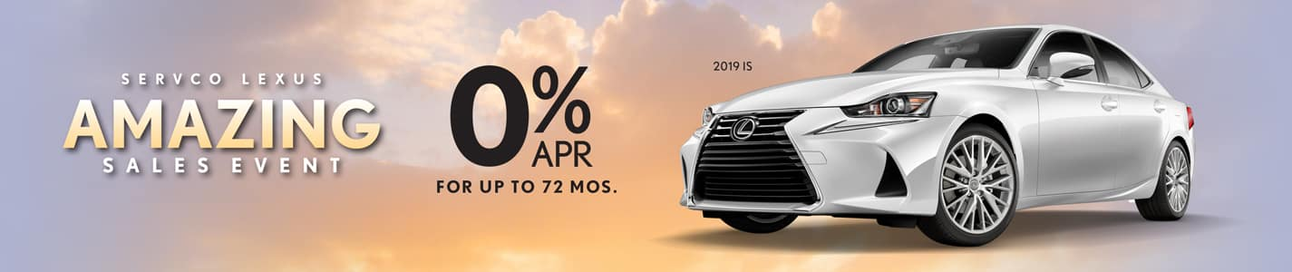 2019 Servco Lexus A-May-Zing Sales Finance Offers