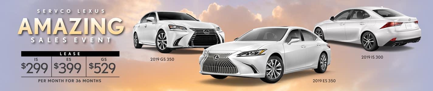 2019 Servco Lexus A-May-Zing Sales Sedan Lease Offers