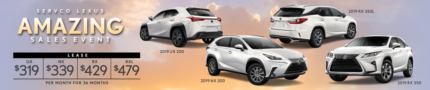 2019 Servco Lexus A-May-Zing Sales SUV Lease Offers