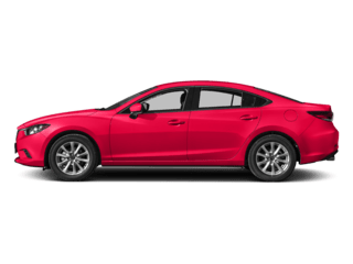 Mazda dealership with red Mazda 6