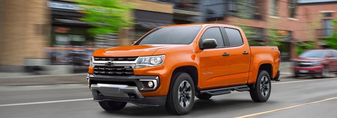 2021 chevy colorado exterior orange