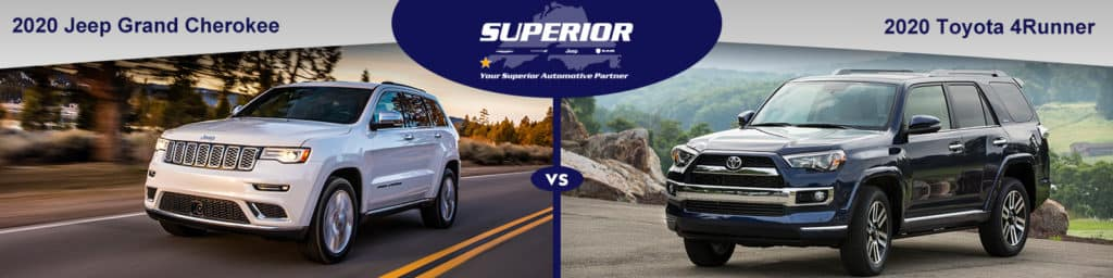 Jeep Grand Cherokee Vs Toyota 4runner >> Compare Jeep Grand Cherokee Vs Toyota 4runner Superior