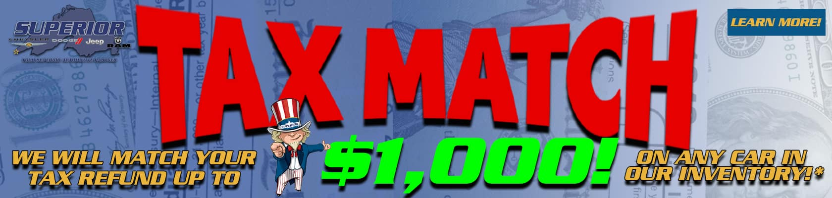 Superior Jeep Ram Tax Match Sale