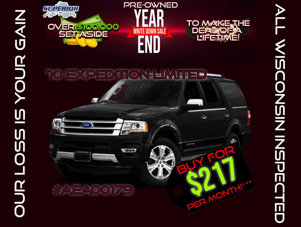 PRE-OWNED 2010 FORD EXPEDITION EL LIMITED 4WD #AEA00179