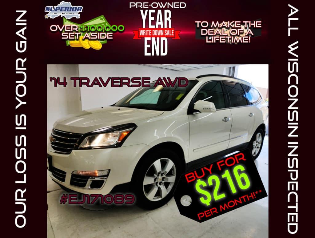 PRE-OWNED 2014 CHEVROLET TRAVERSE LTZ AWD #EJ171089
