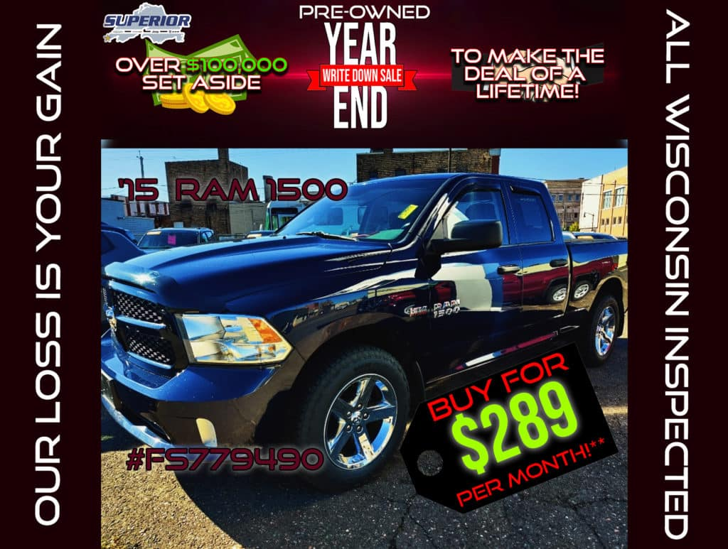 PRE-OWNED 2015 RAM 1500 EXPRESS #FS779490