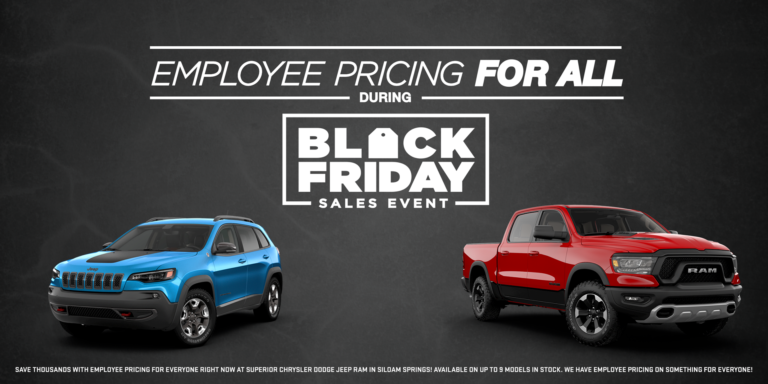 Employee pricing for all during black friday