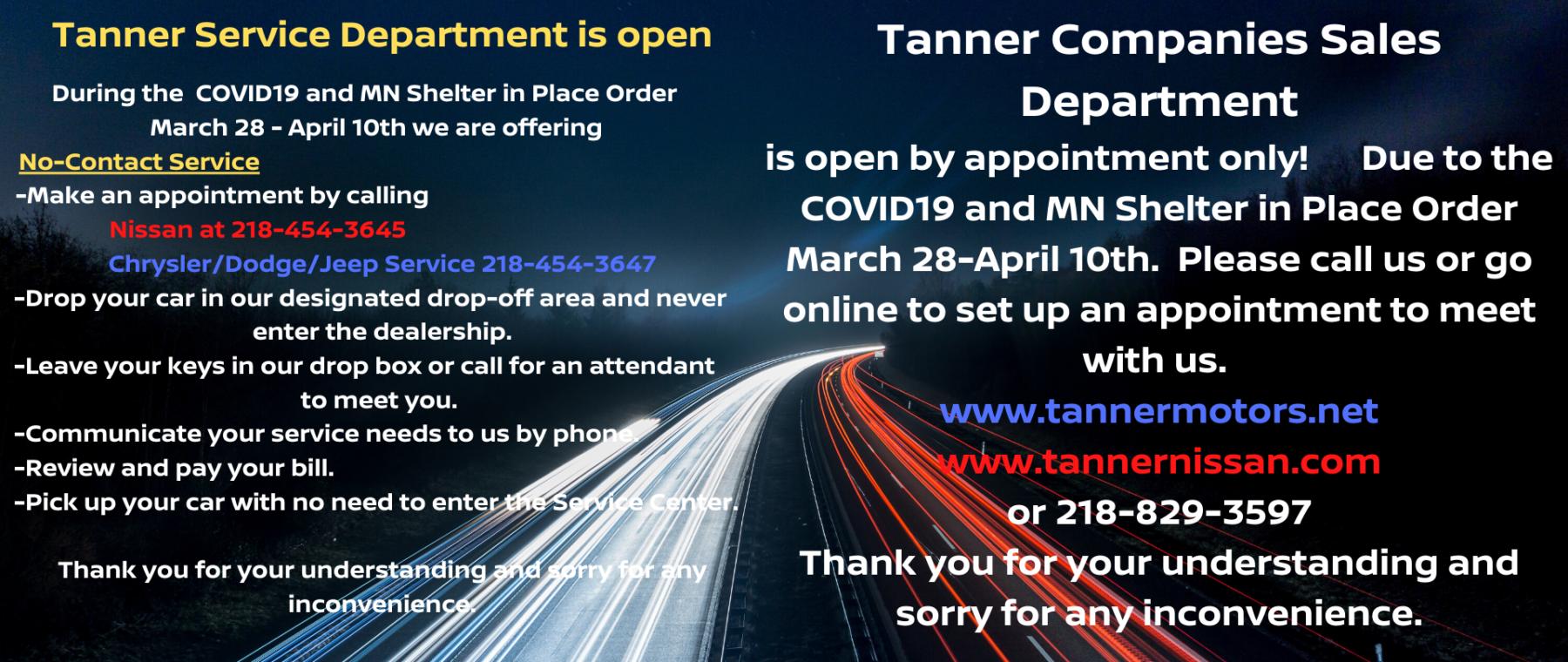 Covid Tanner Sales Service